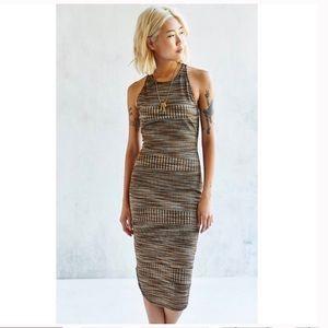 NWOT UO x Ecote Metallic Size S Ribbed Dress